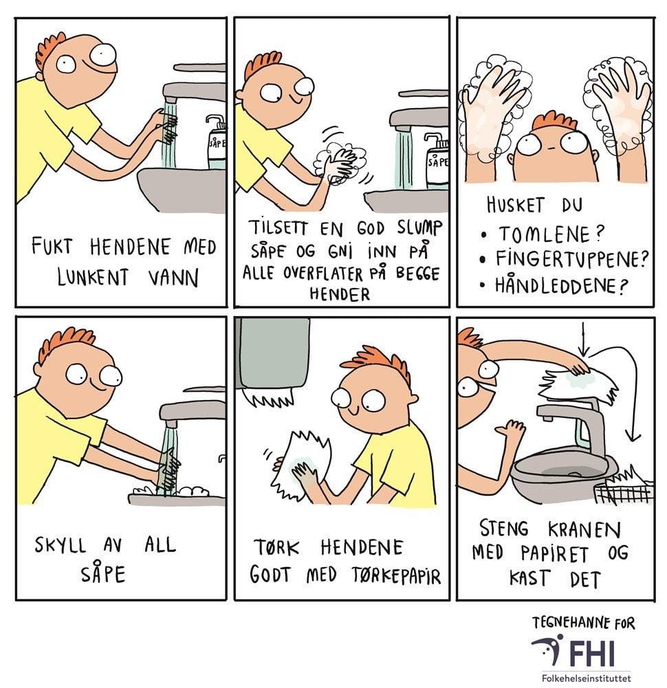 illustrasjon hånddesinfeksjon